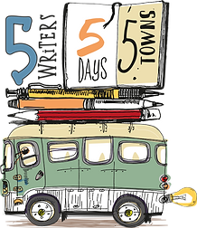 5 Writers Five Days Five Towns logo, Byron Writers Festival