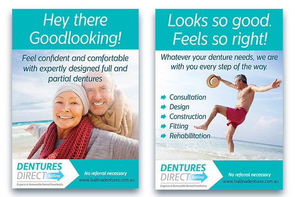 Dentures Direct Poster Design