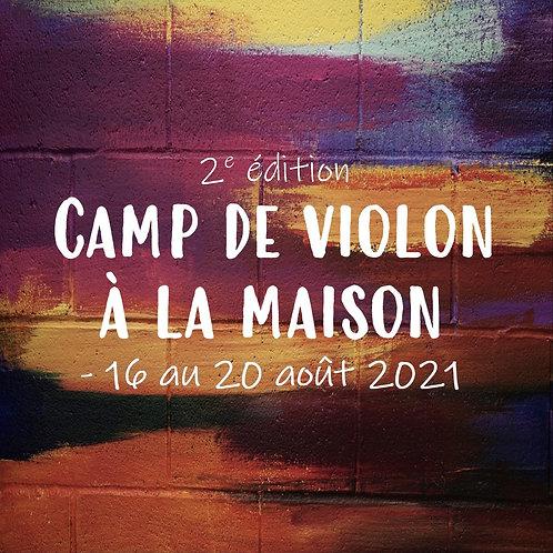 Camp de violon à la maison - 2021