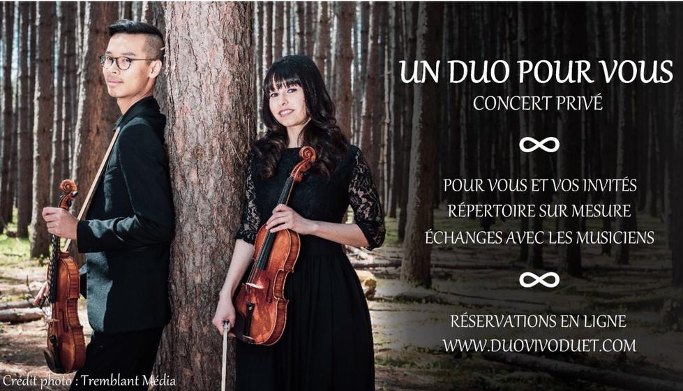 Un duo pour vous - Concert privé