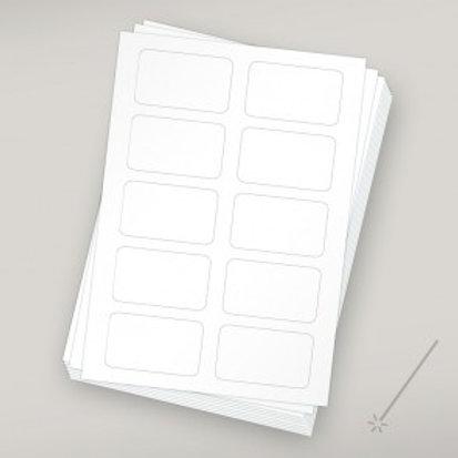 Etiketten für Clipanhänger - Laser 10er Pack