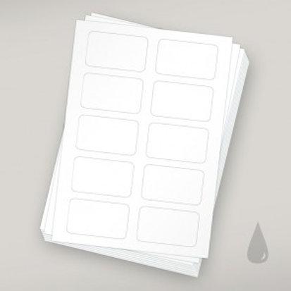 Etiketten für Clipanhänger - Tinte 10er Pack