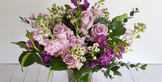 Purple Roses and Stock