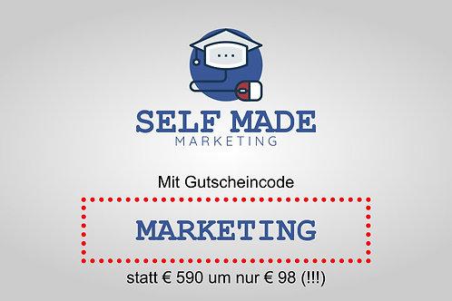 Zugriffe auf alle Kurse und Support bei Self Made Marketing für 12 Monate