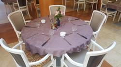 Une table du restaurant