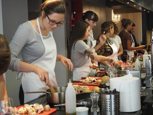 Cooking class in German