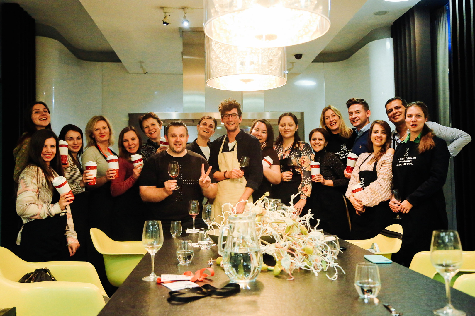 B2B Cooking class, dinner & wine tasting