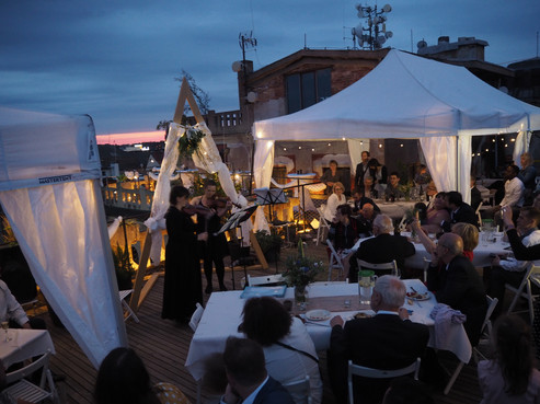 Wedding catering Lucerna rooftop