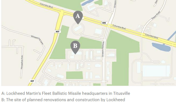 Lockheed Martin plans new Titusville factory