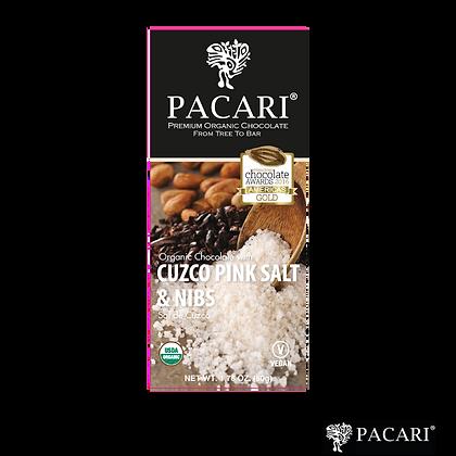 CHOCOLATE ORGÁNICO CON SAL DE CUZCO & NIBS, 50gr