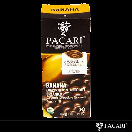 BANANO CUBIERTO CON CHOCOLATE, 57gr