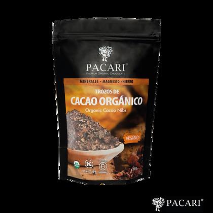 TROZOS DE CACAO ORGÁNICO, 200gr