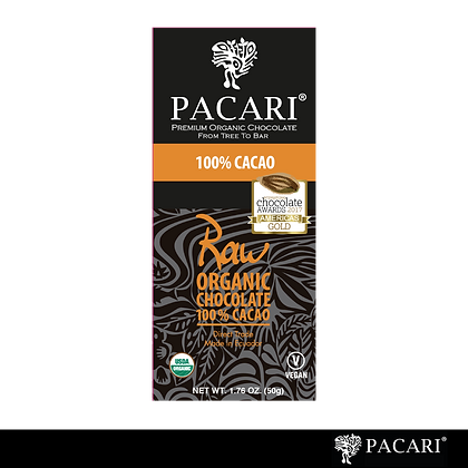 CHOCOLATE ORGÁNICO 100% CACAO RAW, 50gr