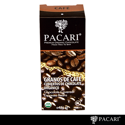 GRANOS DE CAFÉ CUBIERTOS DE CHOCOLATE, 45GR