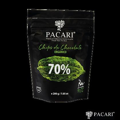 CHIPS DE CHOCOLATE 70%, 200gr