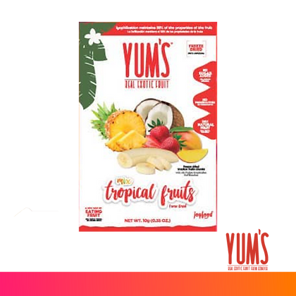 YUM`S SNACK DE TROPICAL FRUITS