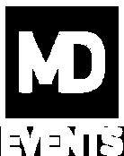 TRANSPARENT komplettes MD Events logo We