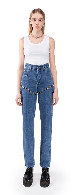Blue Transformer Jeans On Zippers