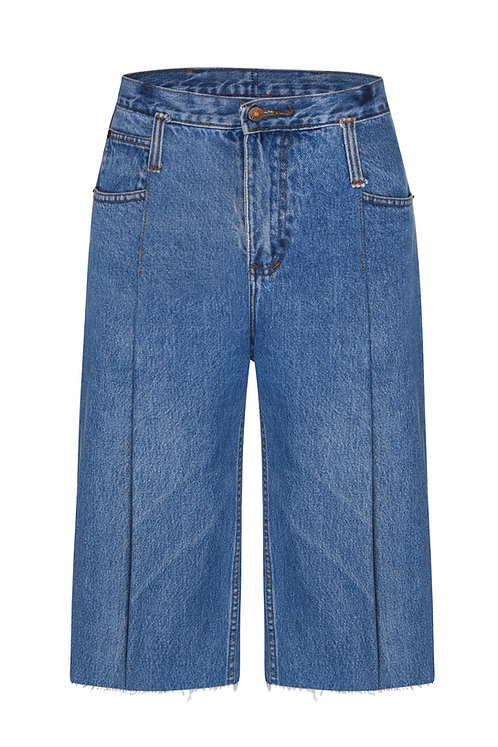 Flexible Rise Blue Carpenter Shorts / Reworked