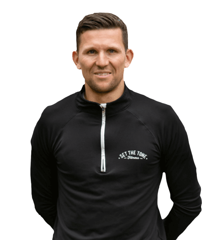 Portrait of personal trainer, Stu Clark, with transparent background