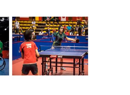 Tênis de mesa em pé e em cadeira de rodas e superação de Paulo