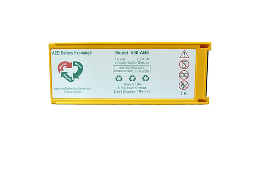 AED Battery Exchange 500-ABE Re-Celled AED Battery