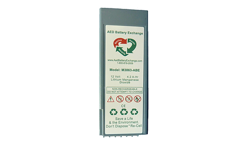 AED Battery Exchange M3863-ABE Re-Celled AED Battery