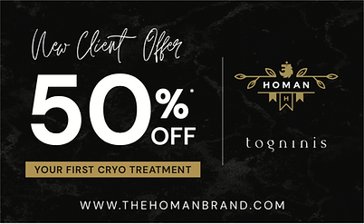 50% off your first Cryo Treatment