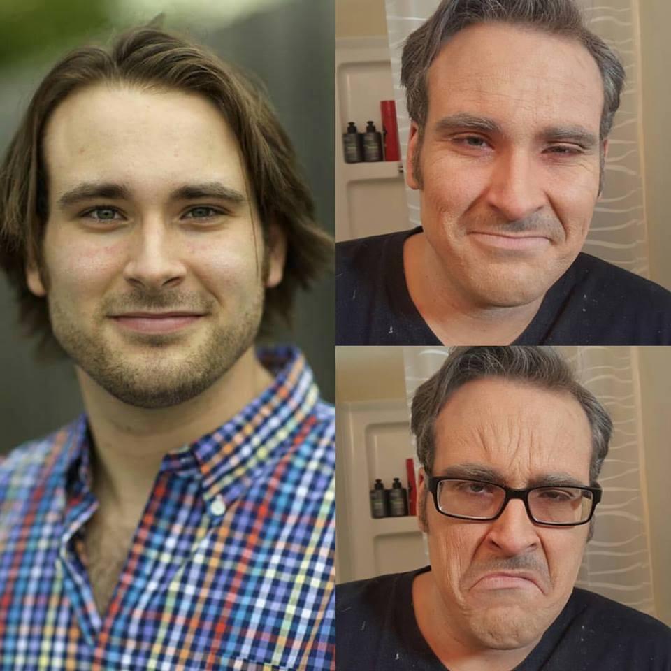 Aging make-up.