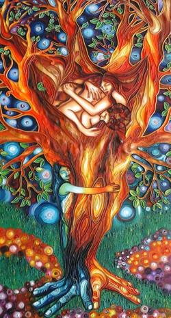 Abbracciando il mio amato albero