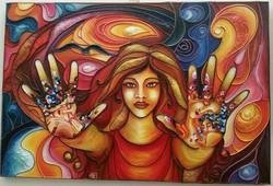 Klimt in my hands (version 1)