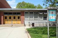 Front doors of school