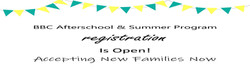 BBC Afterschool summercamp program regis