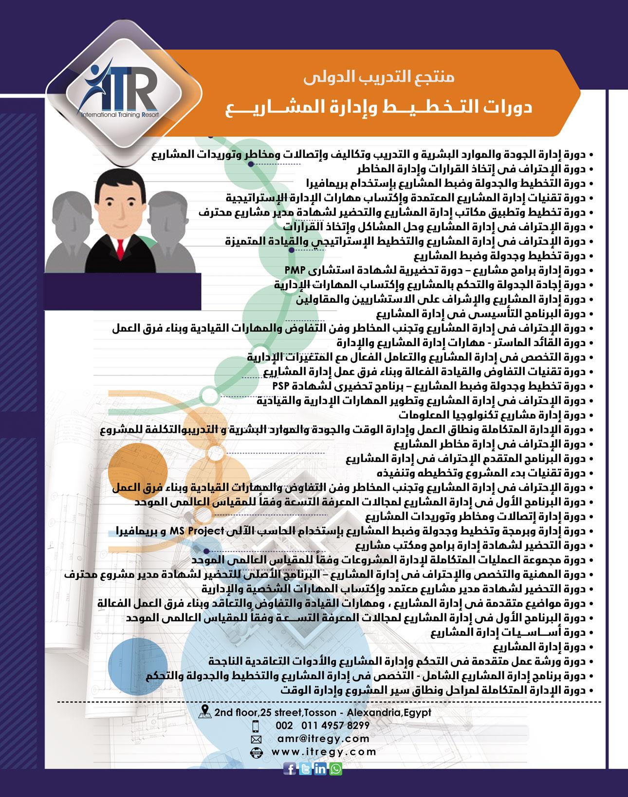 دورات التخطيط وإدارة المشاريع