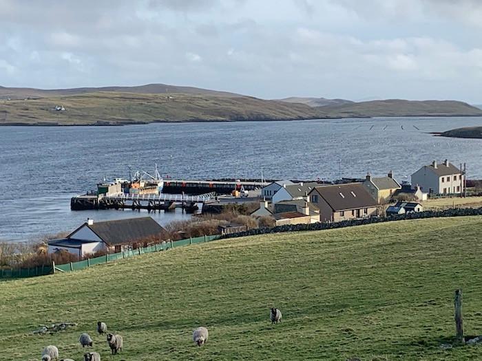 Walls harbour, Shetland