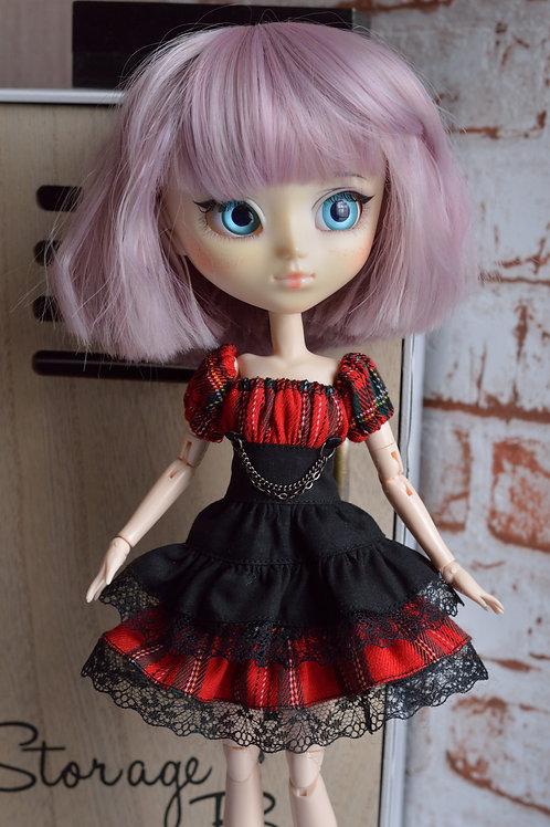 Collection Gothique : Outfit Nix noir&tartan
