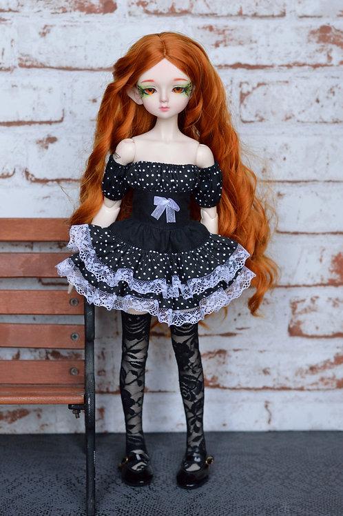 Collection Gothique : Outfit Nix noir à pois [Taille B]