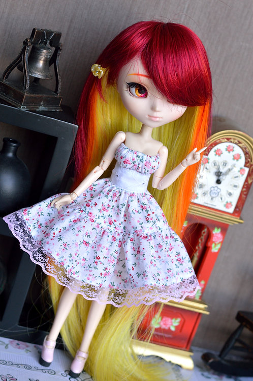 Robe Candy aux fleurs roses