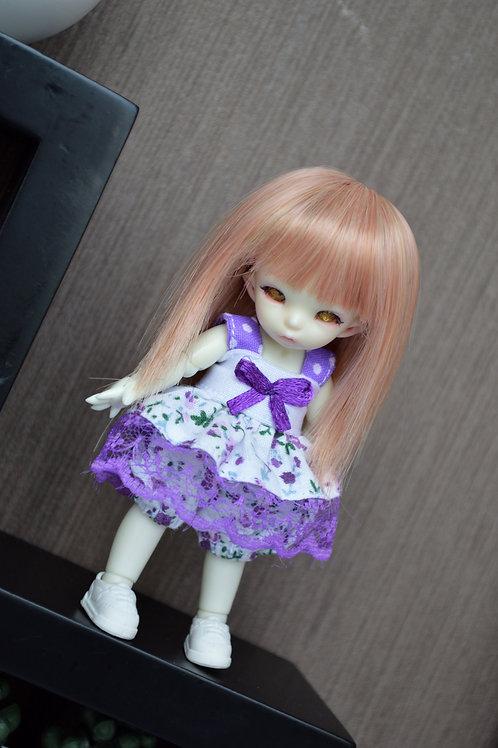 Outfit Pico à fleurs violette