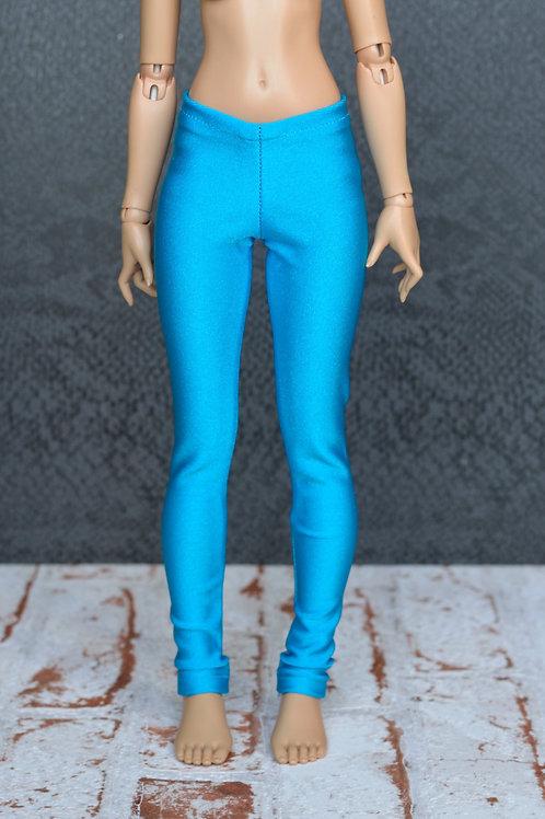 Legging bleu satiné