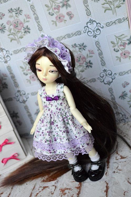 Outfit Sissou aux fleurs violette