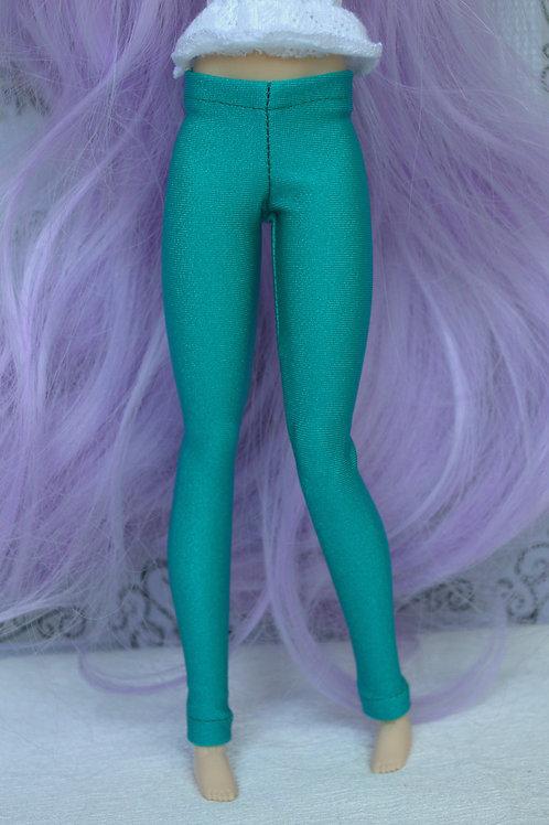 Leggings bleu/vert