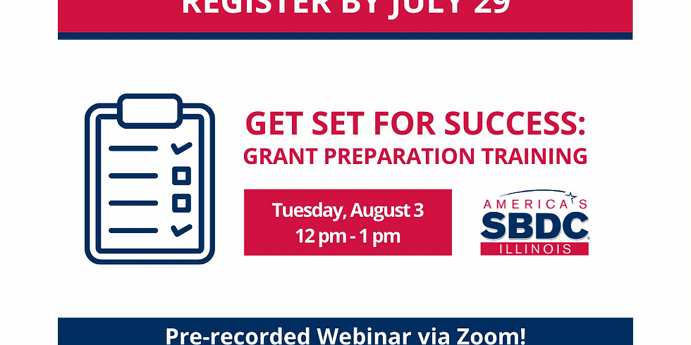 Get Set for Success: Grant Preparation Training - August