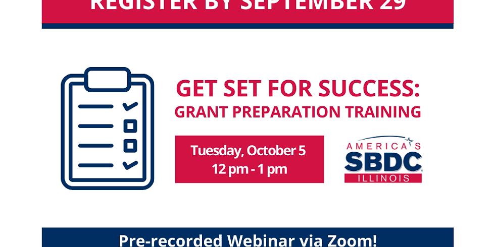 Get Set for Success: Grant Preparation Training - October