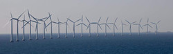 Offshore wind farm pano