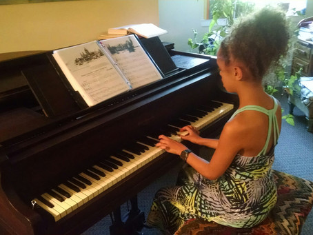 Summer is time to play - piano!   Donated pianos find homes with aspiring students in need