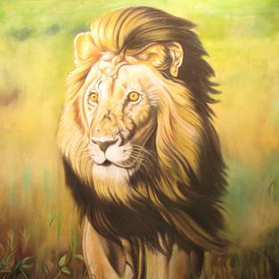 Alone Lion