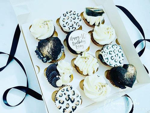 Luxury Leopard Print Cupcake Giftbox