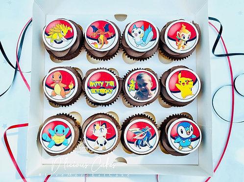 Themed Edible Image Cupcake Giftbox