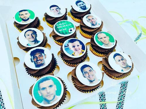 Fantasy Football Team Cupcake Giftbox